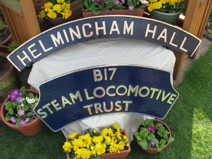 Restored Helmingham Hall plate B17 headboard reduced